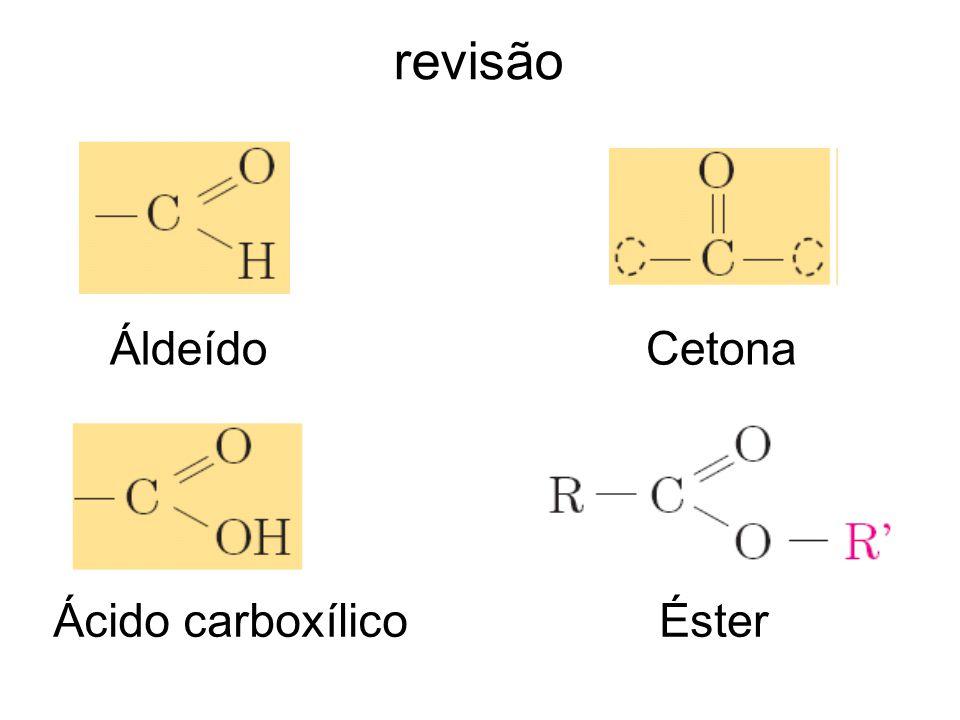 revisão ÁldeídoCetona Ácido carboxílicoÉster