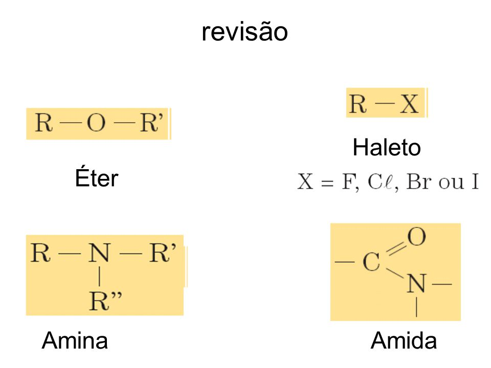 revisão Éter AminaAmida Haleto