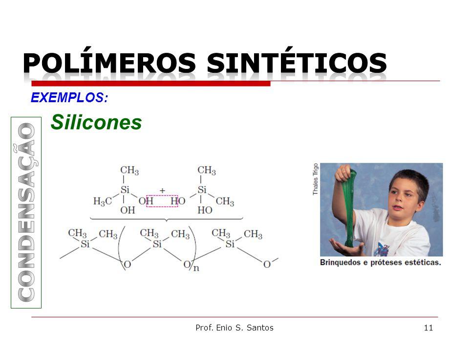 Prof. Enio S. Santos11 EXEMPLOS: Silicones