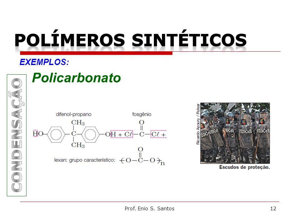 Prof. Enio S. Santos12 EXEMPLOS: Policarbonato