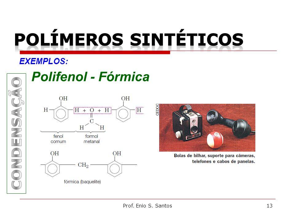 Prof. Enio S. Santos13 EXEMPLOS: Polifenol - Fórmica