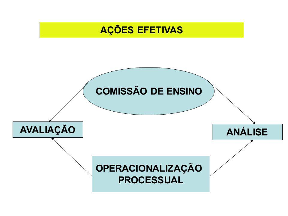 AÇÕES EFETIVAS COMISSÃO DE ENSINO OPERACIONALIZAÇÃO PROCESSUAL ANÁLISE AVALIAÇÃO