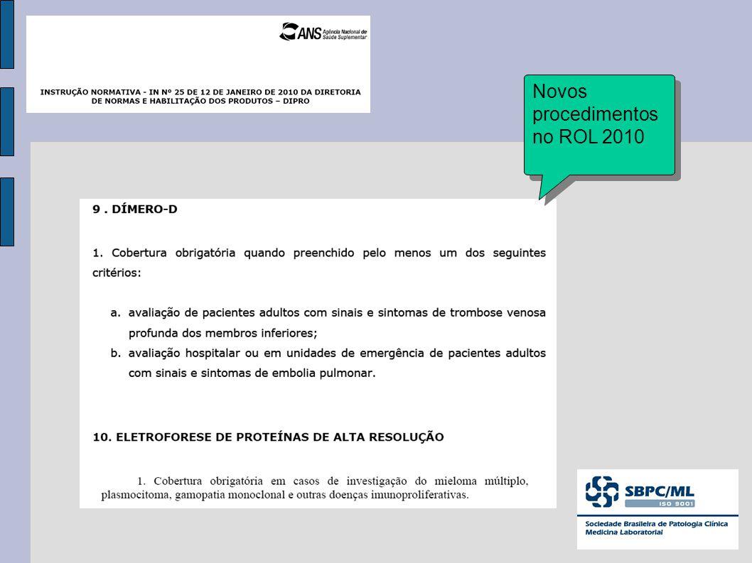 Novos procedimentos no ROL 2010