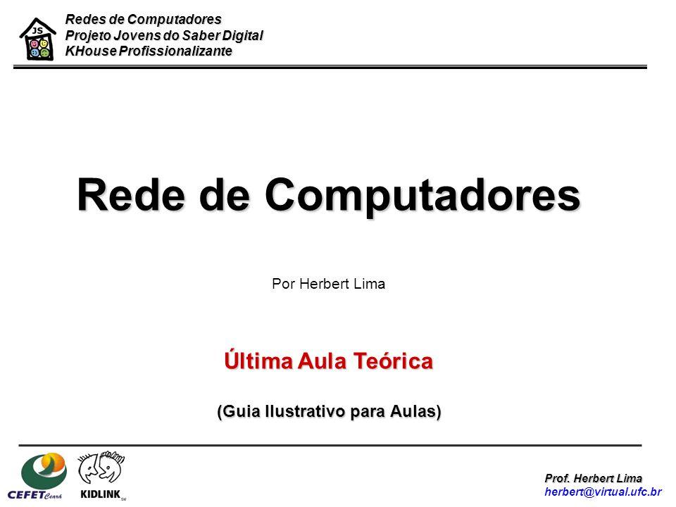 Redes de Computadores Projeto Jovens do Saber Digital KHouse Profissionalizante Prof. Herbert Lima herbert@virtual.ufc.br Rede de Computadores Por Her