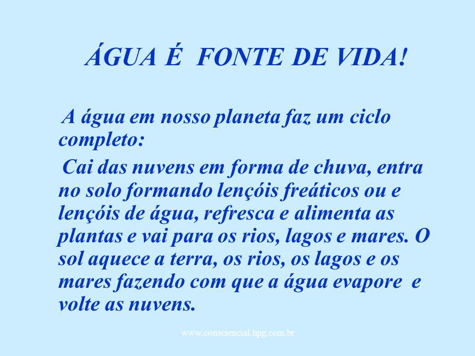 www.consciencial.hpg.com.br ÁGUA ÁGUA É VIDA!