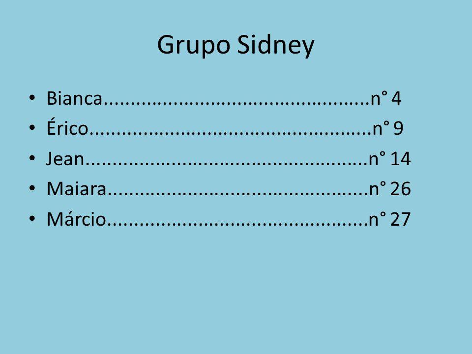 Grupo Sidney Bianca..................................................n° 4 Érico.....................................................n° 9 Jean.....................................................n° 14 Maiara.................................................n° 26 Márcio.................................................n° 27