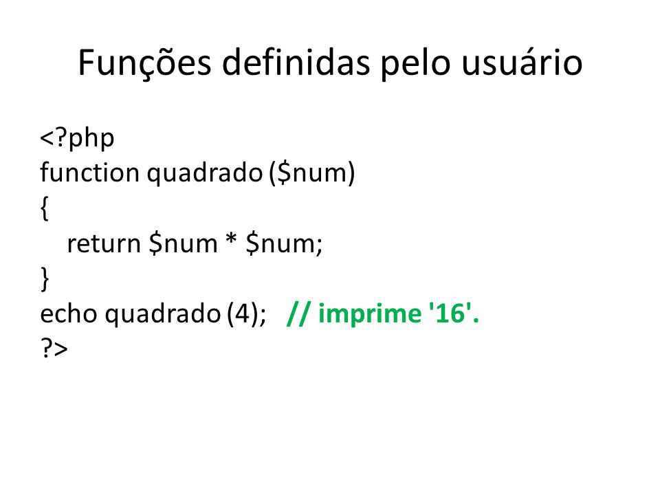 Funções definidas pelo usuário