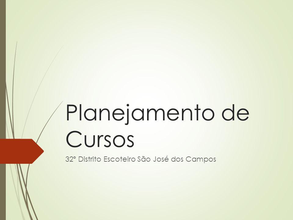 Planejamento de Cursos 32º Distrito Escoteiro São José dos Campos