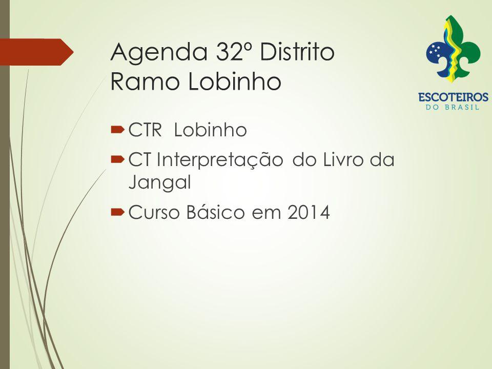 Agenda 32º Distrito Ramo Lobinho  CTR Lobinho  CT Interpretação do Livro da Jangal  Curso Básico em 2014