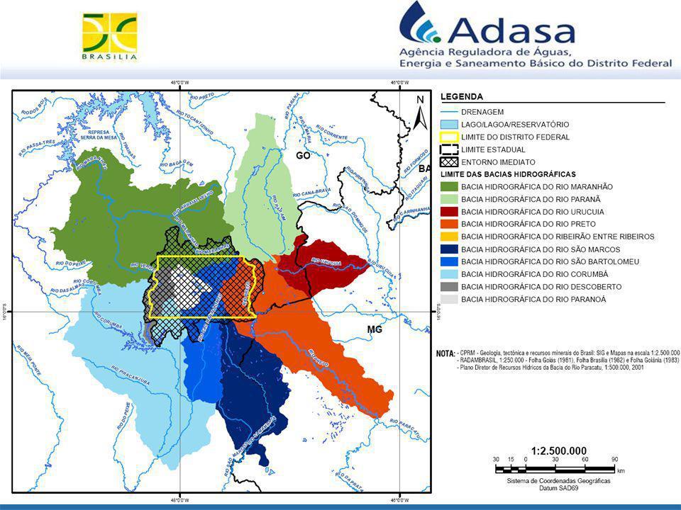 LOCALIZAÇÃO Abrange o limite norte do DF e uma porção do estado de Goiás (municípios de Planaltina/GO e Formosa).