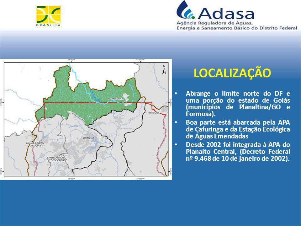 UNIDADE DE ANÁLISE HIDROLÓGICA – UAH 125 – RIO PALMEIRAS Distrito Federal Número de Outorgas: 04 Finalidades: 75% Irrigação e 25% Criação de Animal Demanda: 7% do total da vazão outorgável ( mês de setembro – período mais crítico) Disponibilidade: 93% da vazão outorgável