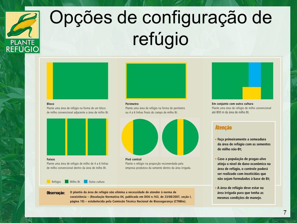 Opções de configuração de refúgio 7