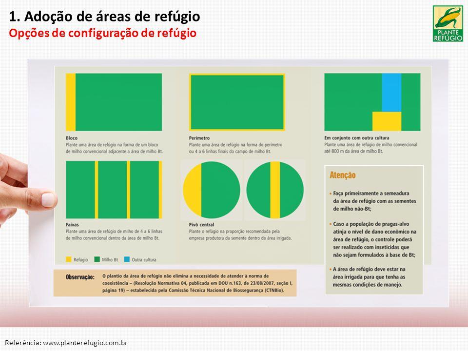 1. Adoção de áreas de refúgio Opções de configuração de refúgio Referência: www.planterefugio.com.br