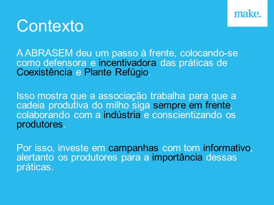 Contexto A ABRASEM deu um passo à frente, colocando-se como defensora e incentivadora das práticas de Coexistência e Plante Refúgio.