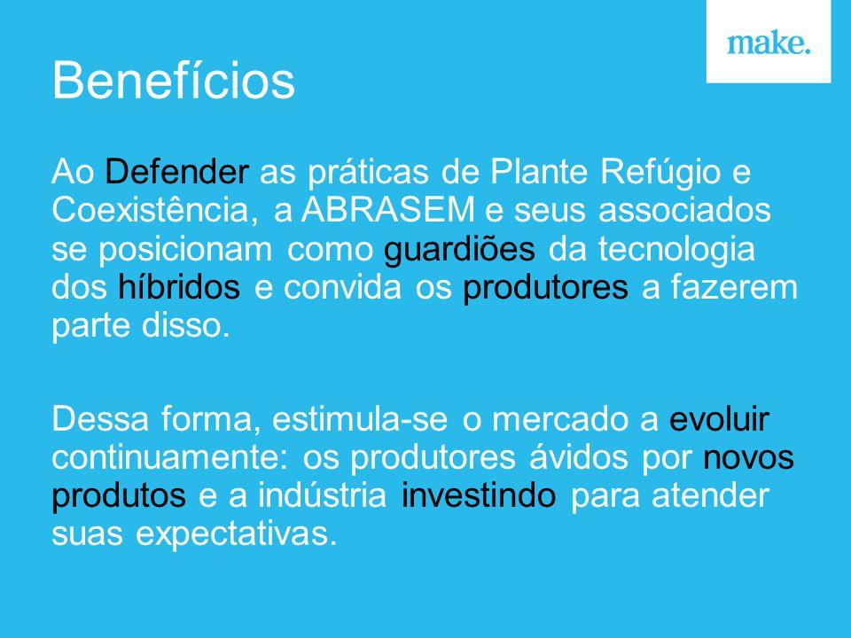 Benefícios Ao Defender as práticas de Plante Refúgio e Coexistência, a ABRASEM e seus associados se posicionam como guardiões da tecnologia dos híbridos e convida os produtores a fazerem parte disso.
