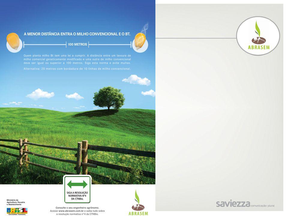 Proposta Anúncio - Conceito 2A: - Comunicação amigável, que leva em consideração o respeito existente entre dois produtores vizinhos, cada um com sua opção mas convivendo em harmonia; - Valoriza, através do selo da campanha, a Resolução Normativa no.