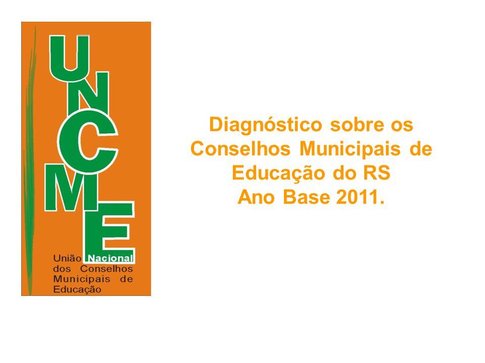 Diagnóstico sobre os Conselhos Municipais de Educação do RS Ano Base 2011.