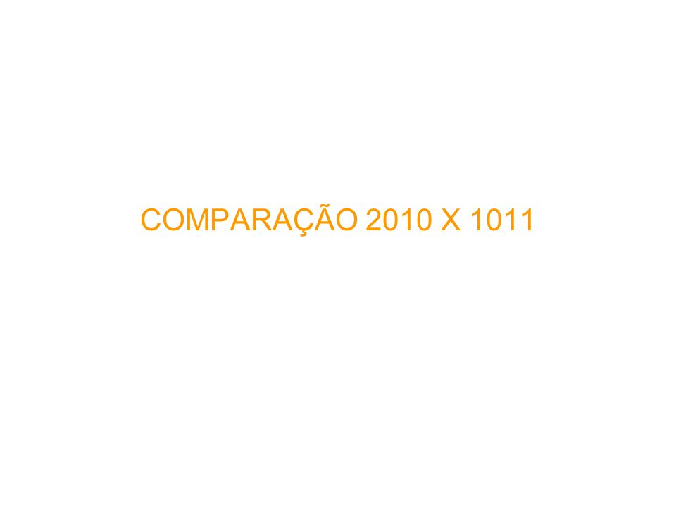 COMPARAÇÃO 2010 X 1011