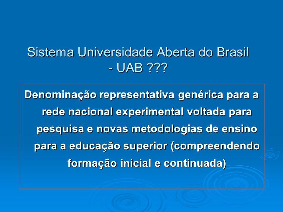 Sistema Universidade Aberta do Brasil - UAB ??.