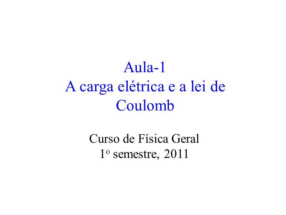 Aula-1 A carga elétrica e a lei de Coulomb Curso de Física Geral 1 o semestre, 2011