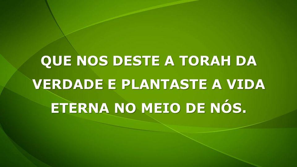 QUE NOS DESTE A TORAH DA VERDADE E PLANTASTE A VIDA ETERNA NO MEIO DE NÓS.