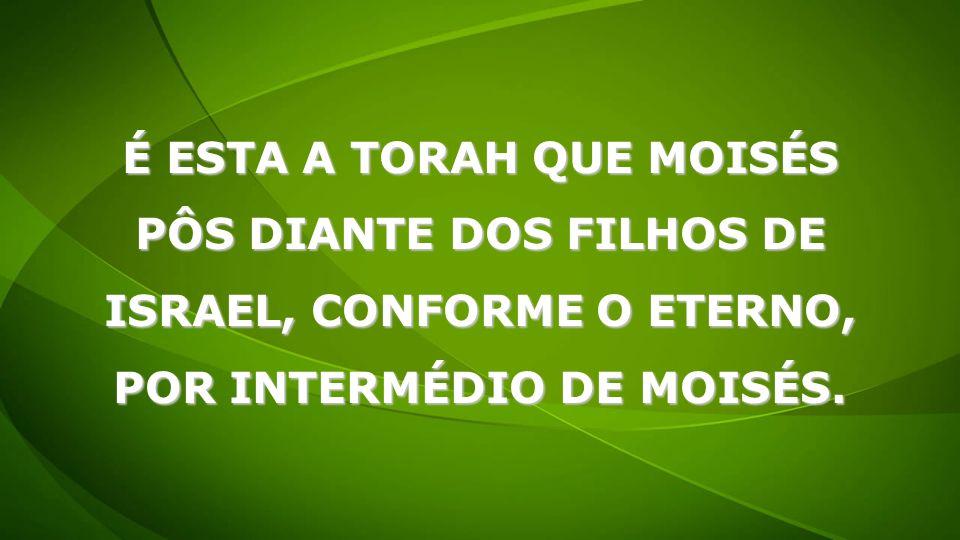 É ESTA A TORAH QUE MOISÉS PÔS DIANTE DOS FILHOS DE ISRAEL, CONFORME O ETERNO, POR INTERMÉDIO DE MOISÉS.