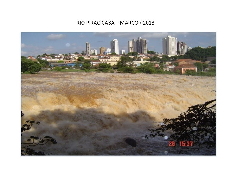 RIO PIRACICABA – MARÇO / 2013