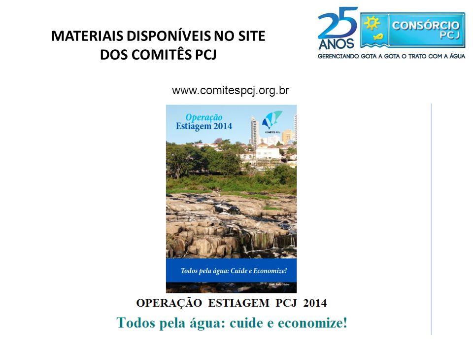 DOS COMITÊS PCJ www.comitespcj.org.br
