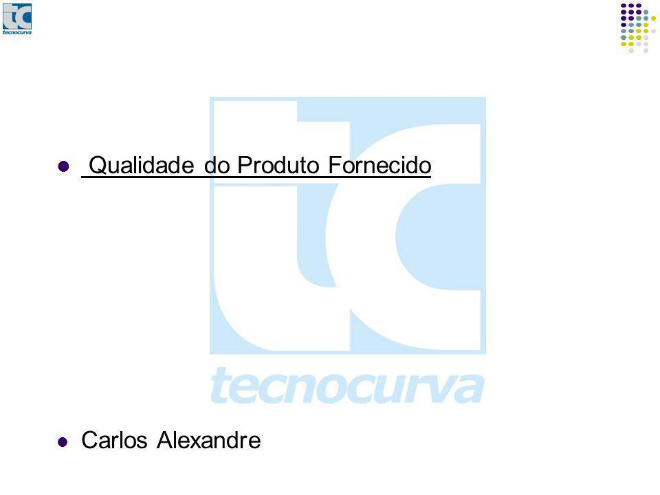 Qualidade do Produto Fornecido Carlos Alexandre