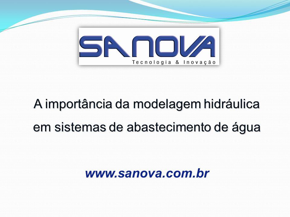 A importância da modelagem hidráulica em sistemas de abastecimento de água www.sanova.com.br