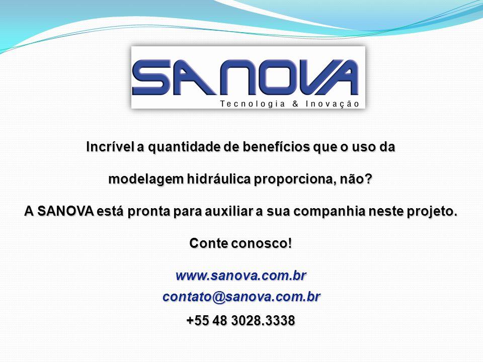 Incrível a quantidade de benefícios que o uso da modelagem hidráulica proporciona, não? A SANOVA está pronta para auxiliar a sua companhia neste proje