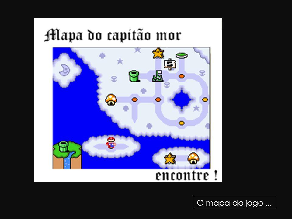 O mapa do jogo...
