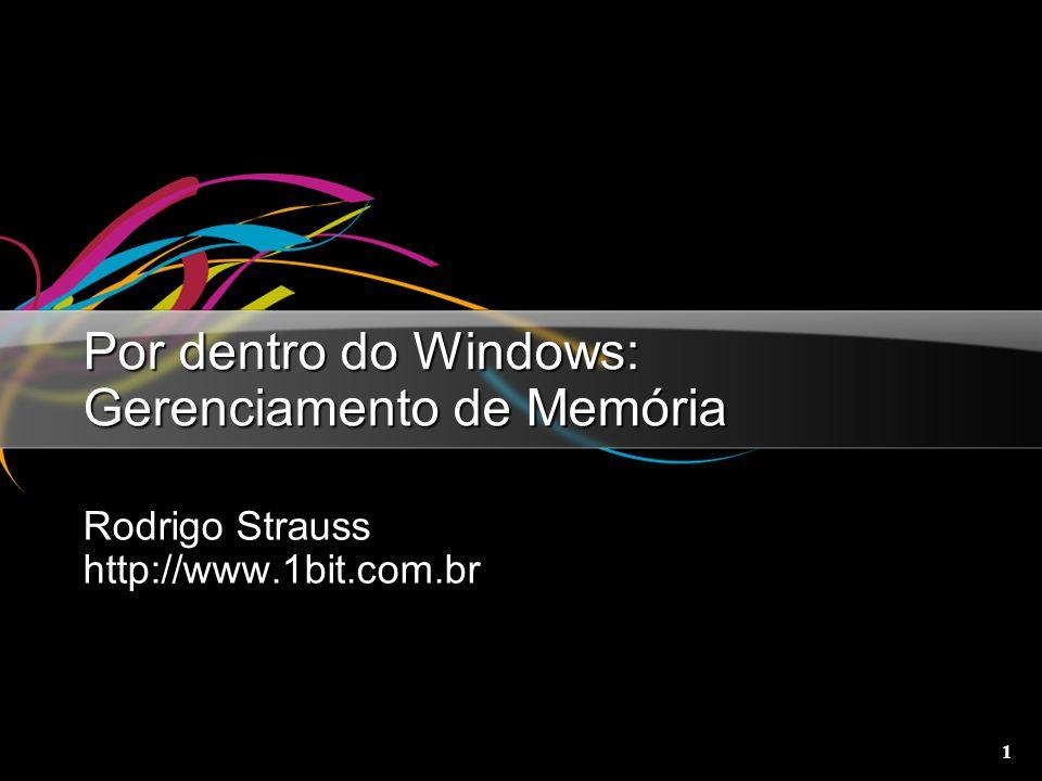 1 Por dentro do Windows: Gerenciamento de Memória Rodrigo Strauss http://www.1bit.com.br