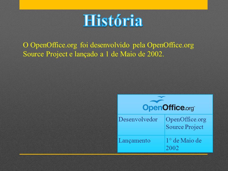 O OpenOffice.org foi desenvolvido pela OpenOffice.org Source Project e lançado a 1 de Maio de 2002.