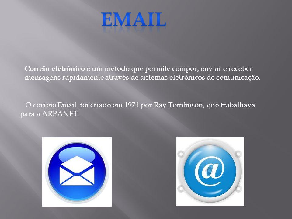 Correio eletrónico é um método que permite compor, enviar e receber mensagens rapidamente através de sistemas eletrónicos de comunicação. O correio Em