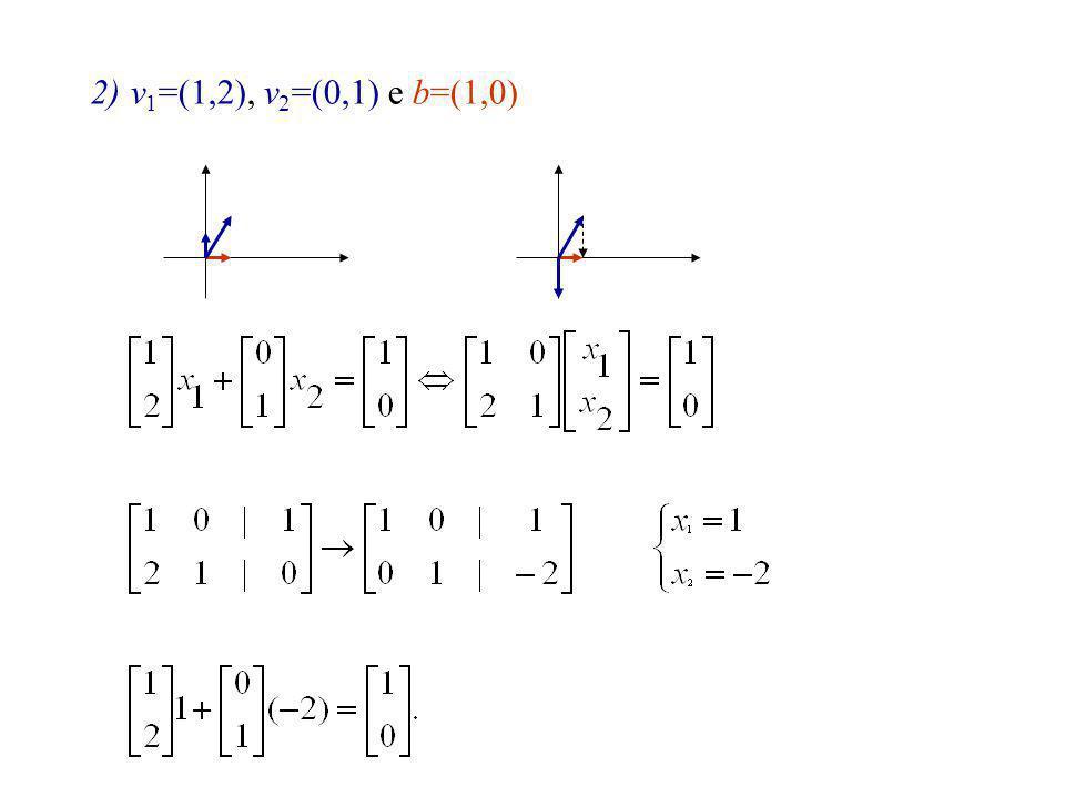 3)v 1 =(1,2), v 2 =(0,1), v 3 =(-1,1) e b=(1,0)