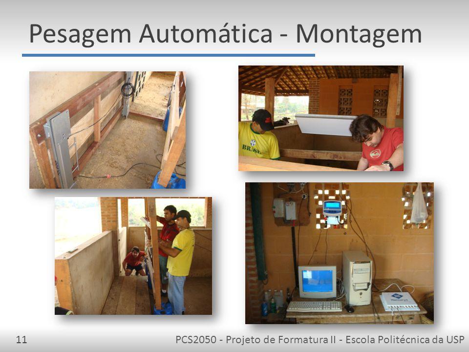 PCS2050 - Projeto de Formatura II - Escola Politécnica da USP11 Pesagem Automática - Montagem