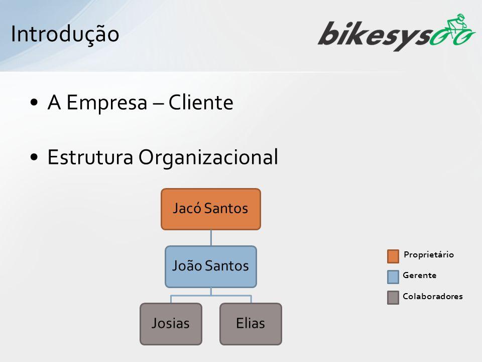 A Empresa – Cliente Estrutura Organizacional Jacó SantosJoão SantosJosiasElias Proprietário Gerente Colaboradores Introdução