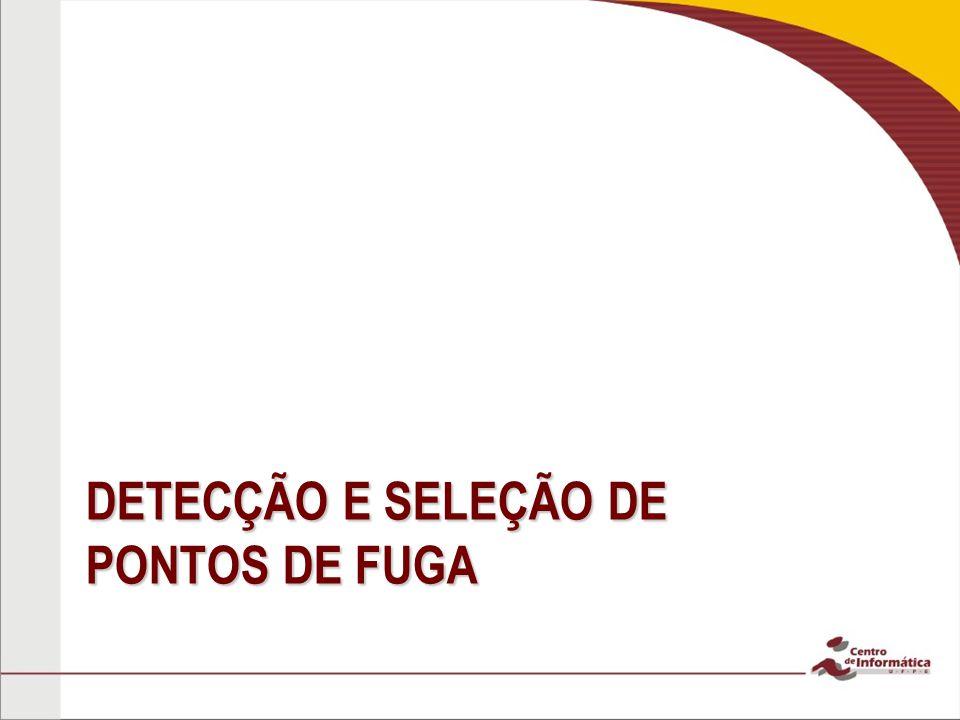 DETECÇÃO E SELEÇÃO DE PONTOS DE FUGA
