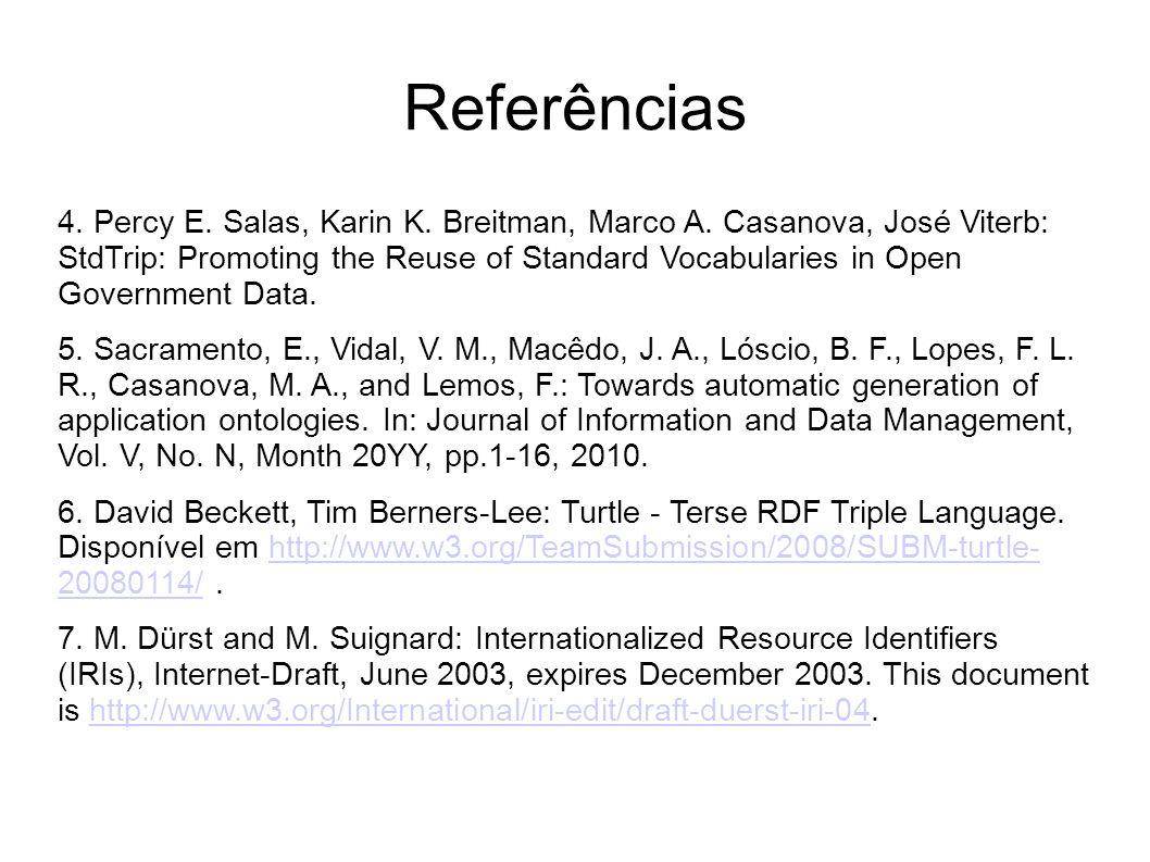 Referências 4.Percy E. Salas, Karin K. Breitman, Marco A.