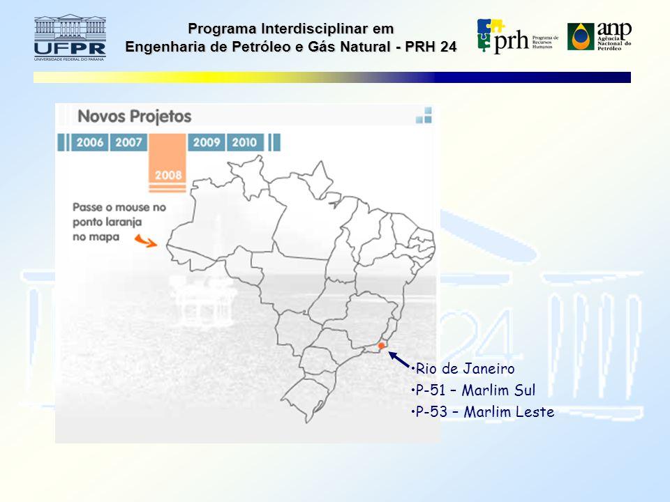 Programa Interdisciplinar em Engenharia de Petróleo e Gás Natural - PRH 24 Rio de Janeiro P-51 – Marlim Sul P-53 – Marlim Leste
