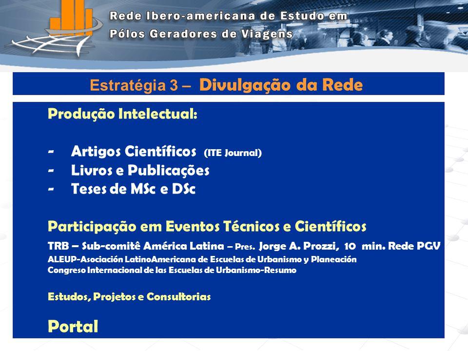 Programa de Engenharia de Transportes - COPPE/UFRJ11 Produção Intelectual: -Artigos Científicos (ITE Journal) -Livros e Publicações -Teses de MSc e DS