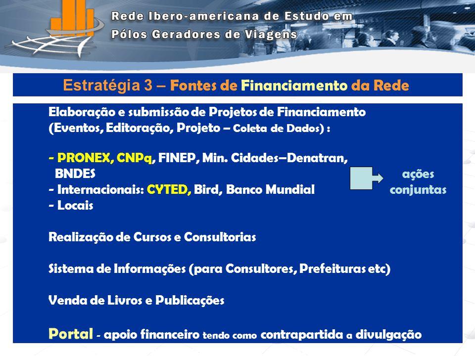 Programa de Engenharia de Transportes - COPPE/UFRJ13 Elaboração e submissão de Projetos de Financiamento (Eventos, Editoração, Projeto – Coleta de Dad