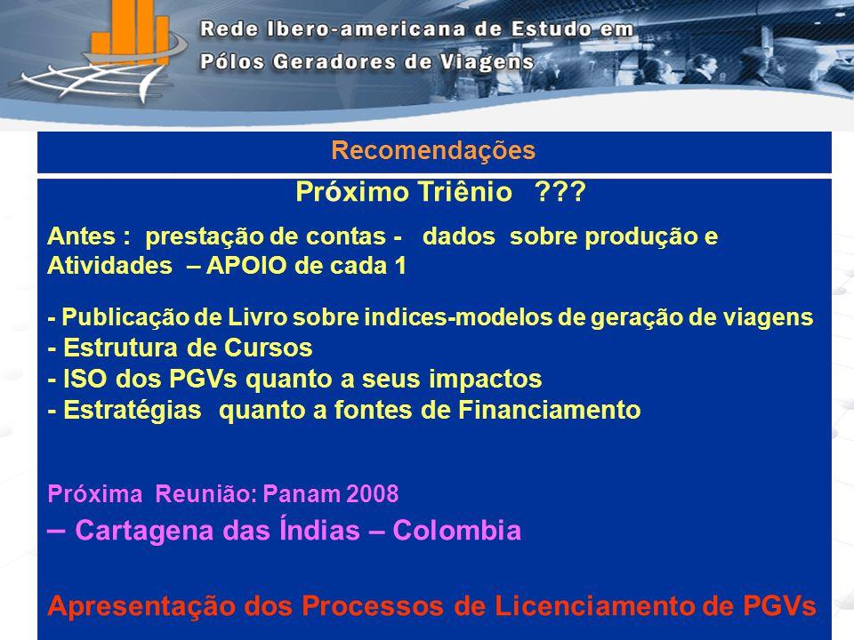 Programa de Engenharia de Transportes - COPPE/UFRJ15 Pr ó ximo Triênio ??? Antes : prestação de contas - dados sobre produção e Atividades – APOIO de