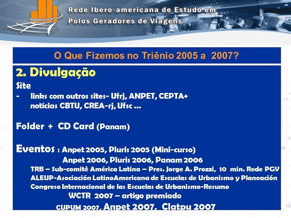 Programa de Engenharia de Transportes - COPPE/UFRJ8 3.