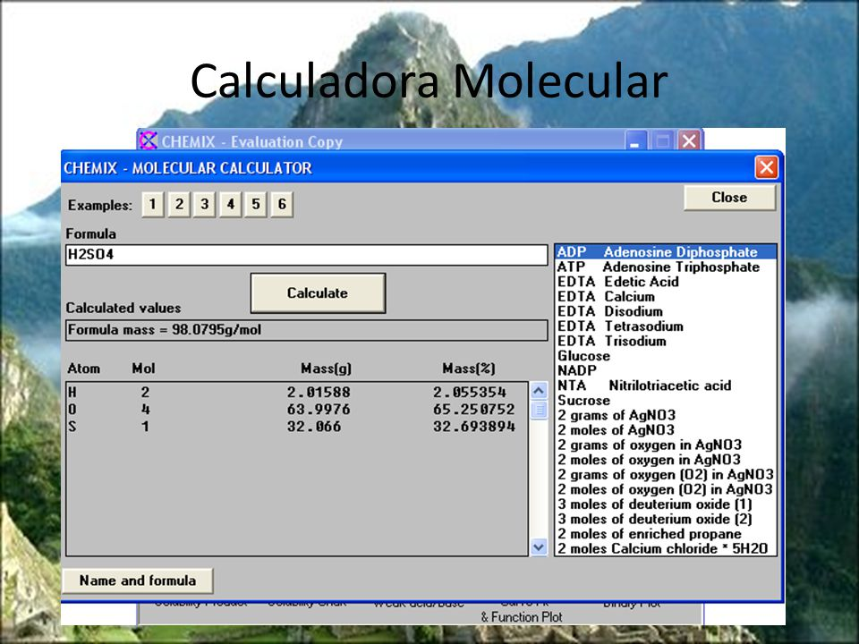 Calculadora Molecular