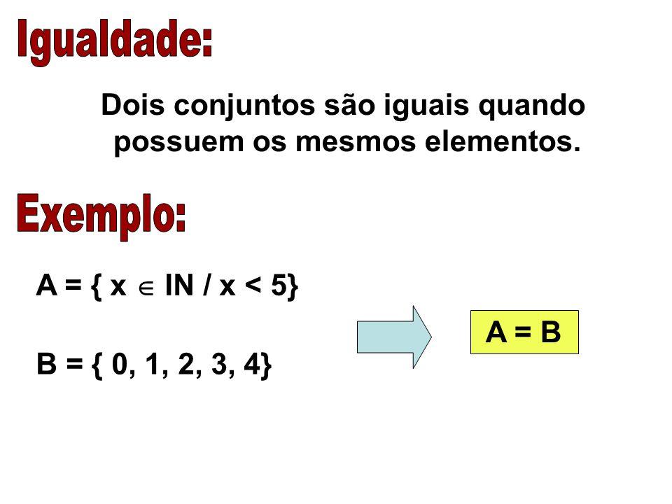A U B = { x / x  A ou X  B} A = {1, 2, 3} B = {3, 4, 5} A U B = {1, 2, 3, 4, 5}