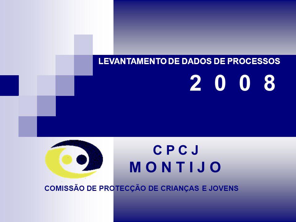 C P C J M O N T I J O LEVANTAMENTO DE DADOS DE PROCESSOS COMISSÃO DE PROTECÇÃO DE CRIANÇAS E JOVENS 2 0 0 8