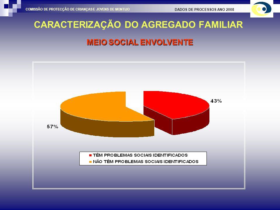 CARACTERIZAÇÃO DO AGREGADO FAMILIAR DADOS DE PROCESSOS ANO 2008 COMISSÃO DE PROTECÇÃO DE CRIANÇAS E JOVENS DE MONTIJO TIPO DE ALOJAMENTO