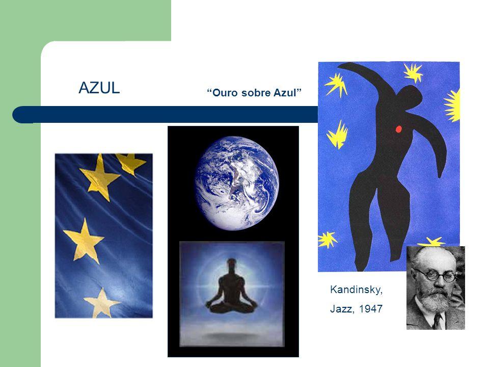 "AZUL Kandinsky, Jazz, 1947 ""Ouro sobre Azul"""